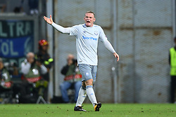 September 14, 2017 - Reggio Emilia, Italy - Wayne Rooney of Everton reclaiming with the teammates  during the UEFA Europa League Group E football match Atalanta vs Everton at The Stadio Città del Tricolore in Reggio Emilia on September 14, 2017. (Credit Image: © Matteo Ciambelli/NurPhoto via ZUMA Press)