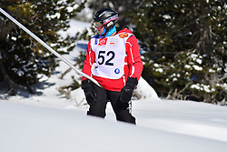 Snowboarder Cross Action, SLEPOV Yevgenyi, BEL at the 2016 IPC Snowboard Europa Cup Finals and World Cup
