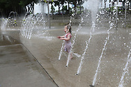 Gemma's at 21 months playing at the splash pad and at home, Sunday, May 19, 2019  at Cedar Shake Shack in LOUISVILLE.