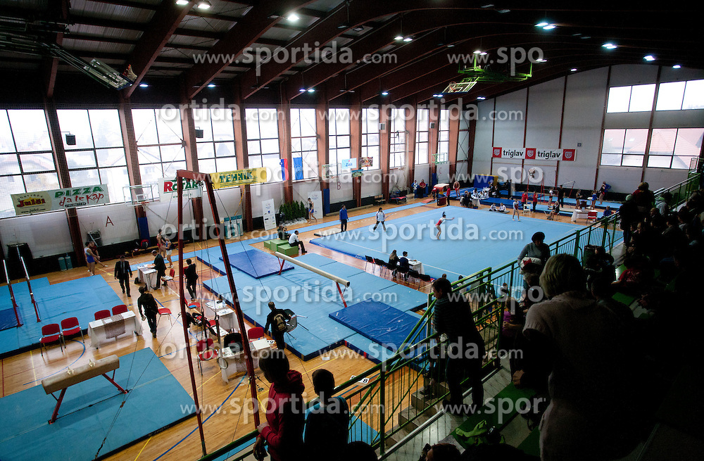 Arena GIB  during Slovenian Artistic Gymnastics National Chapionship 2011, on November 20, 2011 in GIB Arena, Ljubljana, Slovenia. (Photo By Vid Ponikvar / Sportida.com)