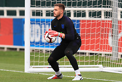 England goalkeeper Jack Butland during the training session at St Georges' Park, Burton. PRESS ASSOCIATION Photo. Picture date: Monday September 10, 2018. See PA story SOCCER England. Photo credit should read: Mike Egerton/PA Wire. RESTRICTIONS: Use subject to FA restrictions. Editorial use only. Commercial use only with prior written consent of the FA. No editing except cropping.