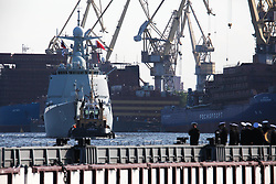 July 27, 2017 - Saint Petersburg, Russia - Destroyer ''Hefei'' and the frigate ''Unicen'' arrives at St Petersburg to take part in a ship parade marking Russian Navy Day in Russia, on July 27, 2017. (Credit Image: © Valya Egorshin/NurPhoto via ZUMA Press)