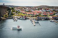 The picturesque fishing village of Smögen in West Sweden.