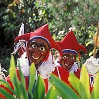 Hombres vestidos de jokili en el bosque, Colonia Tovar, Aragua, Venezuela