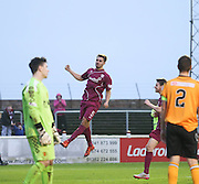 Craig Watson celebrates after heading home Arbroath's opener - Arbroath v Annan Athletic, Ladbrokes SPFL League two at Gayfield<br /> <br />  - &copy; David Young - www.davidyoungphoto.co.uk - email: davidyoungphoto@gmail.com