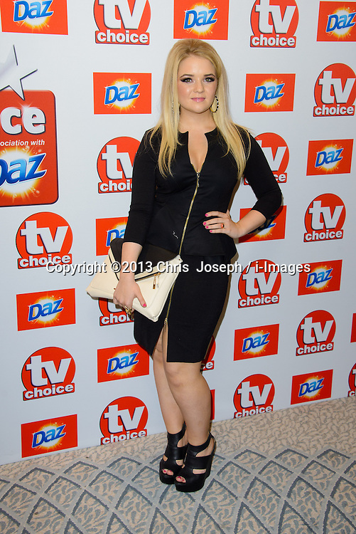 TV Choice Awards 2013 - London.<br /> Lorna Fitzgerald arriving at the TV Choice Awards 2013, The Dorchester Hotel, London, United Kingdom. Monday, 9th September 2013. Picture by Chris  Joseph / i-Images