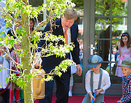 Baarn, 21-05-2015 <br /> <br /> King WIllem-Alexander opened the New Baarn School<br /> <br /> <br /> Photo:Royalportraits Europe/Bernard Ruebsamen