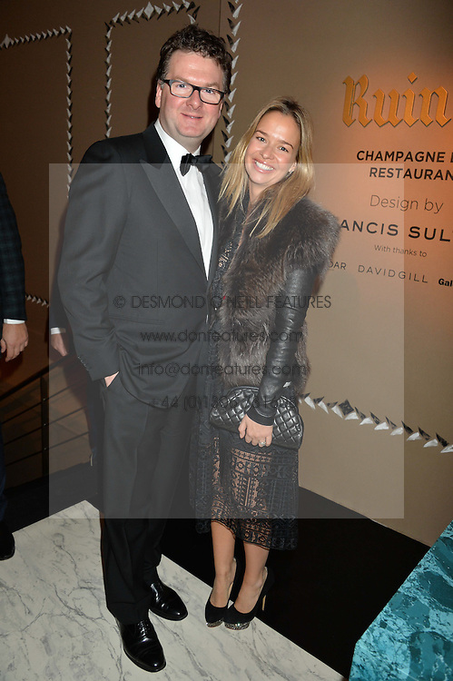 EWAN VENTERS and MARISSA HERMER at the PAD London 2015 VIP evening held in the PAD Pavilion, Berkeley Square, London on 12th October 2015.