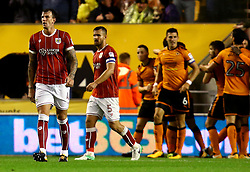 Aden Flint of Bristol City cuts a dejected figure after his side concede a goal - Mandatory by-line: Robbie Stephenson/JMP - 12/09/2017 - FOOTBALL - Molineux - Wolverhampton, England - Wolverhampton Wanderers v Bristol City - Sky Bet Championship