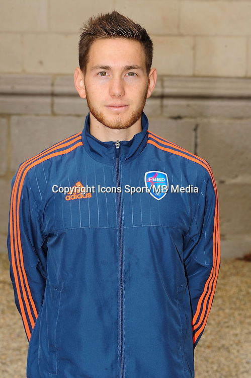 Martin POBEL - 26.09.2015 - Photo officielle Bourg en Bresse Peronnas - Ligue 2<br /> Photo : Jean Paul Thomas / Icon Sport