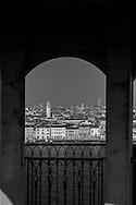 Italy. Venice. Elevated view on the city.  the lagoon and Giudecca canal  Venice - Italy  view from the Hilton Giudecca / vue generale sur la lagune et le CANAL de Giudecca  Venise - Italie vu depuis le hilton Hotel Giudecca