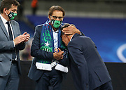 Co-president of AS Saint-Etienne Roland Romeyer consoles coach of AS Saint-Etienne Claude Puel during the trophy ceremony following the French Cup final football match between Paris Saint-Germain (PSG) and AS Saint-Etienne (ASSE) on Friday 24, 2020 at the Stade de France in Saint-Denis, near Paris, France - Photo Juan Soliz / ProSportsImages / DPPI