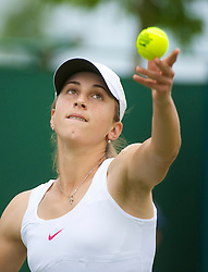 LONDON, ENGLAND - Monday, June 21, 2010: Petra Marti (CRO) during the Ladies' Singles 1st Round on day one of the Wimbledon Lawn Tennis Championships at the All England Lawn Tennis and Croquet Club. (Pic by David Rawcliffe/Propaganda)