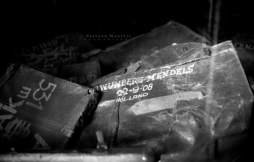 Auschwitz, former Nazi death camp, in Oswiecim, Poland's Nazi-era concentration camp..The suitcases from victims of genocide at the concentration camp of Aushwitz.