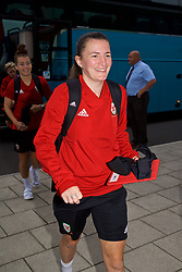 NEWPORT, WALES - Tuesday, August 28, 2018: Wales' Helen Ward arrives before a training session at Dragon Park ahead of the final FIFA Women's World Cup 2019 Qualifying Round Group 1 match against England. (Pic by David Rawcliffe/Propaganda)