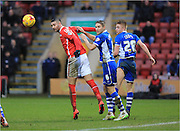 Marcus Haber, Ollie lancashire during the Sky Bet League 1 match between Crewe Alexandra and Rochdale at Alexandra Stadium, Crewe, England on 6 February 2016. Photo by Daniel Youngs.
