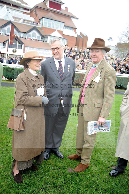Left to right, VISCOUNTESS MARCHWOOD, MAURICE HENNESSY and VISCOUNT MARCHWOOD at the 2008 Hennessy Gold Cup held at Newbury racecourse, Berkshire on 29th November 2008.<br /> <br /> NON EXCLUSIVE - WORLD RIGHTS