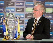 Auchinleck Talbot Director Colin Chisholm grins during an interview with SKY Sports News after his junior club were handed an away tie to SPL Hearts in the William Hill Scottish Cup 4th round draw at Hampden Park.. .- © David Young -.5 Foundry Place - .Monifieth - .Angus - .DD5 4BB - .Tel: 07765 252616 - .email: davidyoungphoto@gmail.com - .http://www.davidyoungphoto.co.uk