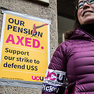 20 Mar 2018 - UCU Strikers rally at Kings College on the final day of the current strike action.