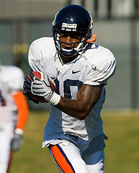 Virginia wide receiver Kevin Ogletree (20).  The Virginia Cavaliers football team during an open practice on August 9, 2008 at the University of Virginia's football turf field in Charlottesville, VA.