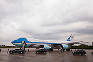 CAPE CANAVERAL, FL -  APRIL 15:  United States President Barack Obama exits Air Force One with US Rep. Suzanne Kosmas (FL), US Senator Bill Nelson (FL), NASA Administrator Charlie Bolden, and former Astronaut Buzz Aldrin at the shuttle landing facility at Kennedy Space Center April 15, 2010 in Cape Canaveral. Obama was holding a summit to discuss the future of the space program. (Photo by Matt Stroshane/Getty Images)
