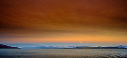 Moon rise over the Scottish mainland from the Sound of Mull<br /> <br /> (c) Andrew Wilson | Edinburgh Elite media