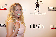 AMSTERDAM - In Hotel The Grand hield Grazia hun jaarlijkse 'Grazia Red Carpet Awards'. Met hier op de foto  Hadewych Minis. FOTO LEVIN DEN BOER - PERSFOTO.NU