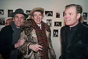 ROBERT PERENO; GAZ MAYALL; RUSTY EGAN, The Way We Wore.- Photographs of parties in the 70's by Nick Ashley. Sladmore Contemporary. Bruton Place. London. 13 January 2010. *** Local Caption *** -DO NOT ARCHIVE-© Copyright Photograph by Dafydd Jones. 248 Clapham Rd. London SW9 0PZ. Tel 0207 820 0771. www.dafjones.com.<br />