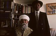 The Ethiopian Jews; The kess Rafael Adana et his Sohn Youssef ,  Sephardic rabbi    Israel     /// les juifs ethiopiens; le kess Riphail Adana et son fils Youssef , rabin sepharade    Israel chez le pere a bet shemesh, le rabbinat n'a jamais voulu reconaitre les grands pretres israelites ethiopiens  /// R00287/    L004427  /  P0007217