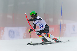 Andrea Rothfuss competing in the Alpine Skiing Super Combined Slalom at the 2014 Sochi Winter Paralympic Games, Russia