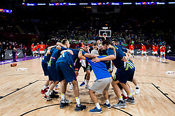 Team Slovenia at warming up during basketball match between National Teams of Slovenia and Spain at Day 15 in Semifinal of the FIBA EuroBasket 2017 at Sinan Erdem Dome in Istanbul, Turkey on September 14, 2017. Photo by Vid Ponikvar / Sportida