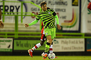 Forest Green Rovers Dayle Grubb(8) passes the ball forward  during the EFL Trophy match between Forest Green Rovers and U21 Southampton at the New Lawn, Forest Green, United Kingdom on 3 September 2019.