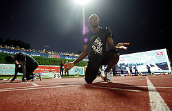 13.09.2011, Sportski Park Mladost, CRO, Athletics Meeting, IAAF World Challenge, Zagreb 2011, im Bild Usain Bolt // during Athletics Meeting, IAAF World Challenge, Zagreb 2011 at Sportski Park Mlados in Zagreb Croatia on 13/09/2011. EXPA Pictures © 2011, PhotoCredit: EXPA/ nph/ Pixsell +++++ ATTENTION - OUT OF GERMANY/(GER), CROATIA/(CRO), BELGIAN/(BEL) +++++