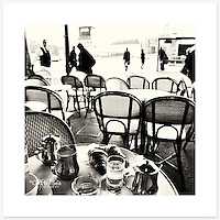 'Petit dej', Paris, France - Monochrome version. Inkjet pigment print on Canson Infinity Rag Photographique 310gsm 100% cotton museum grade Fine Art and photo paper.<br />