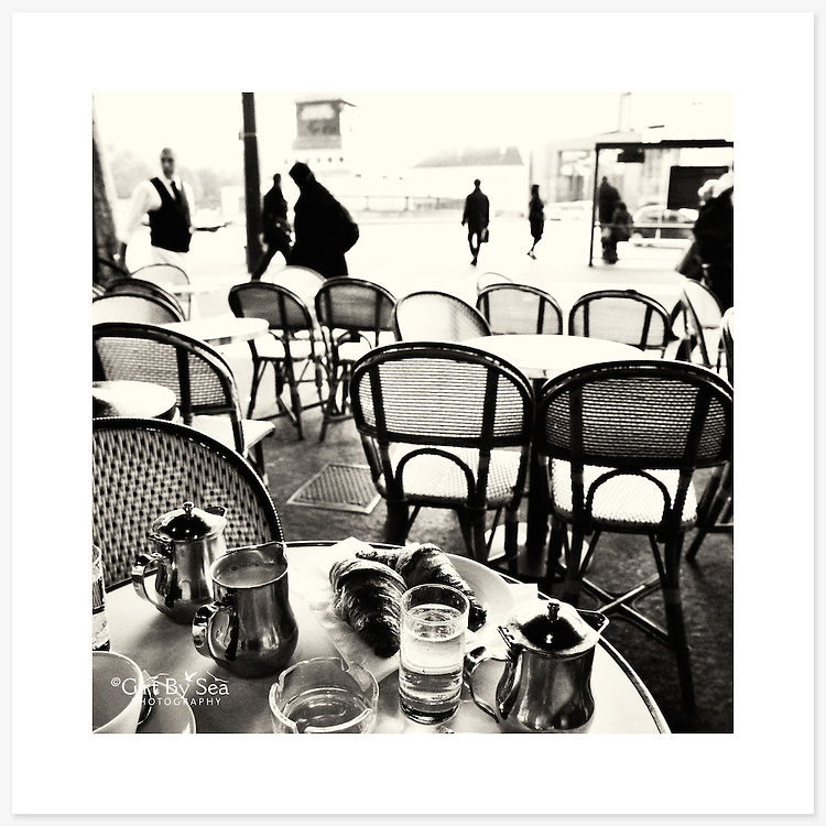 'Petit dej', Paris, France - Monochrome version. Inkjet pigment print on Canson Infinity Rag Photographique 310gsm 100% cotton museum grade Fine Art and photo paper.<br /> <br /> 8x8&quot; Prints: First print $49. Additional prints in same order $29. (A half inch white border is added for safe handling. Size with border 9x9&rdquo;).<br /> <br /> Frame-Ready Prints: Add $29 per print. Includes mounting on 12x12&rdquo; foam-board, plus white matboard with 8x8&rdquo; photo opening. Suits standard 12x12&rdquo; frames.<br /> <br /> Price includes GST &amp; postage within Australia. <br /> <br /> Order by email to orders@girtbyseaphotography.com  quoting image title or reference number, your contact details, delivery address &amp; preferred payment method (PayPal or Bank Deposit). You will be invoiced by return email. Normally ships within 7 days of payment.