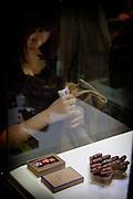 Tokyo, Japon, 30 janvier 2010 - Salon du chocolat au grand magasin Isetan, Shinjuku, 2 semaines avant la St Valentin.