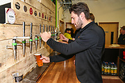 Forest Green Rovers goalkeeper James Montgomery helps to in the new Gym bar during the EFL Sky Bet League 2 match between Forest Green Rovers and Carlisle United at the New Lawn, Forest Green, United Kingdom on 16 March 2019.