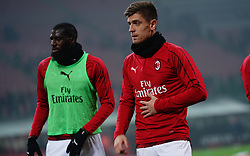 February 10, 2019 - Milano, Italia - ESCLUSIVA MILAN .Foto Spada/LaPresse.10 febbraio  2019 Milano ( Italia ).sport calcio.Milan vs Cagliari  - Campionato di calcio Serie A TIM 2018/2019 - Stadio San Siro .Nella foto: Krzysztof Piatek..EXCLUSIVE MILAN .Photo Spada/LaPresse.February  10 , 2019 Milan ( Italy ).sport soccer.Milan vs Cagliari  - Italian Football Championship League A TIM 2018/2019 - San Siro Stadium.In the pic:  Krzysztof Piatek (Credit Image: © Spada/Lapresse via ZUMA Press)