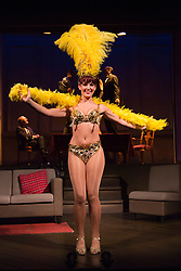 "© Licensed to London News Pictures. 01/11/2013. London, England. Pictured: Hannah Jordan as ""Showgirl"". The play ""Keeler"", the inside story of the Profumo Affair based on the book ""The Truth at Last"" by Christine Keeler opens at the Charing Cross Theatre with Sarah Armstrong as Christine Keeler and Paul Nicholas as Stephen Ward. The play is scheduled to run from 31 October to 14 December 2013. Photo credit: Bettina Strenske/LNP"