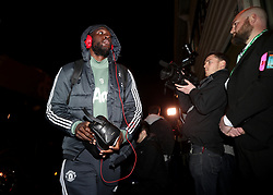 Manchester United's Romelu Lukaku arrives for the Emirates FA Cup, fourth round match at Huish Park, Yeovil.