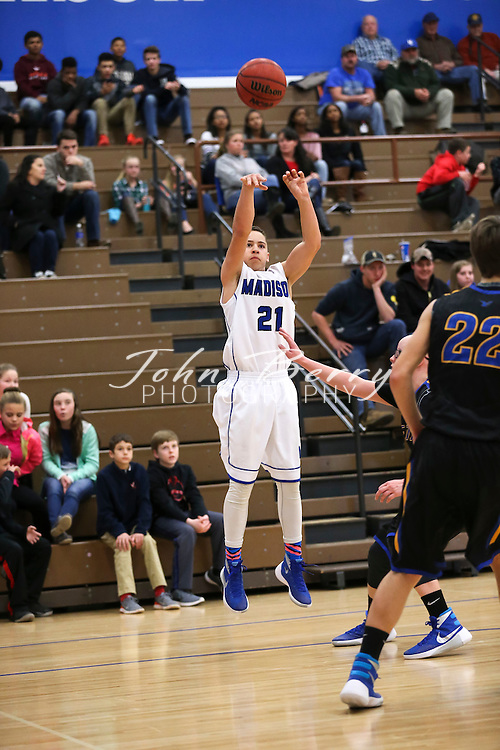 February 11, 2016.  <br /> MCHS Varsity Boys Basketball vs Central Woodstock.  Conference 35 semi finals.  Madison wins 55-36.