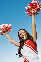 Cheerleader Performing Cheer