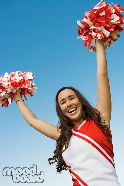 Cheerleader Performing Cheer