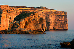 MALTA GOZO DWEJRA BAY 22JUL06 - Dwejra Bay and the Azure Window during sunset over the Mediterranean Sea...jre/Photo by Jiri Rezac..© Jiri Rezac 2006..Contact: +44 (0) 7050 110 417.Mobile: +44 (0) 7801 337 683.Office: +44 (0) 20 8968 9635..Email: jiri@jirirezac.com.Web: www.jirirezac.com