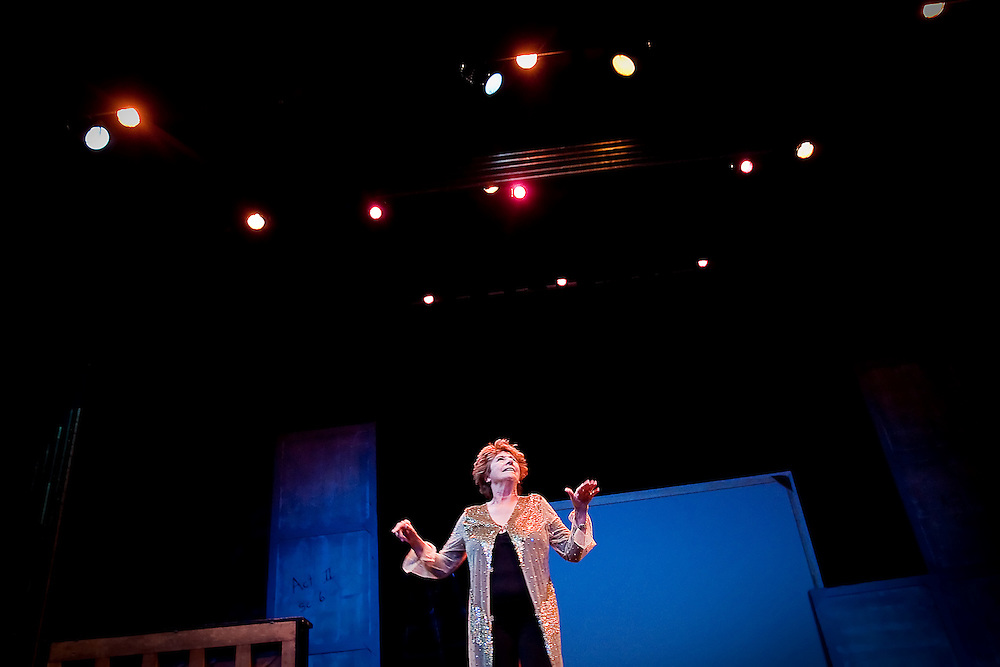 "JEROME A. POLLOS/Press..Ellen Travolta plays the role of Mona, a temperamental diva star, in the Coeur d'Alene Summer Theatre production of ""Dames at Sea"" that opened Thursday at North Idaho College."
