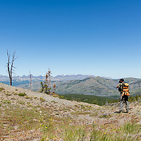 hikers on lee ridge badger two medicine