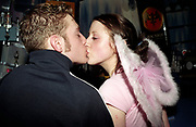 A couple kissing, the girl wearing fairy wings, Club Class, Ikon, Maidstone, Kent, 2002