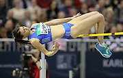 Mirela Demireva (BUL) wins the women's high jump at 6-4¾ (1.95m) in the 34th Indoor Meeting Karlsruhen in an IAAF World Tour competition at the Messe Karlsruhe on Saturday, Feb. 3, 2018 in Karlsruhe, Germany. (Jiro Mochizuki/Image of Sport)