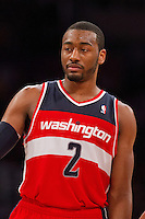 22 March 2013: Guard (2) John Wall of the Washington Wizards against the Los Angeles Lakers during the second half of the Wizards 103-100 victory over the Lakers at the STAPLES Center in Los Angeles, CA.