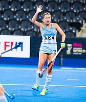 Londen - Delfina Merino (Arg) tijdens de cross over wedstrijd Argentinie-Nieuw Zeeland (2-0)  bij het WK Hockey 2018 in Londen .  COPYRIGHT KOEN SUYK